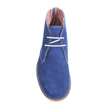 Delize Suede Leather Boots - Blue