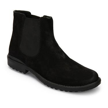 Delize Leather Boots - Black-3092