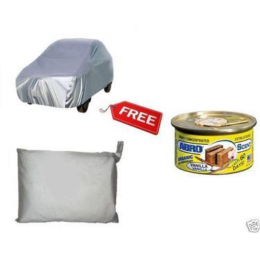 CAR SILVER BODY COVER Renault Duster + Abro Car freshener-Perfume