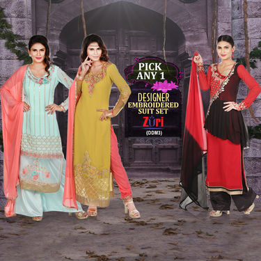 Designer Embroidered Suit Set by Zuri (DDM3) - Pick Any One