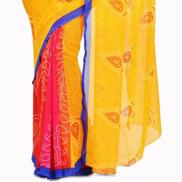 Devika Pack of 7 Printed Rajasthani Special Georgette Sarees (7G26)