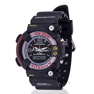 Combo of Dezine Wrist Watch + Aviator Sunglass_CMB01-BLK-PRP