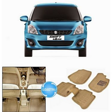 Digitru - Car 3D Foot Mat Swift DZire New (Beige)