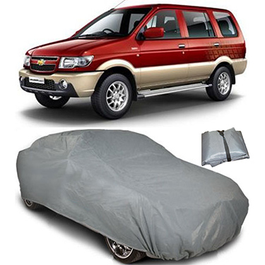 Digitru Car Body Cover for Chevrolet Tavera - Dark Grey