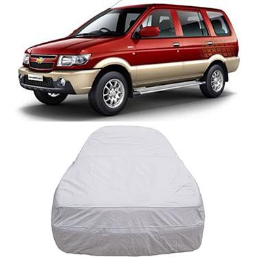 Digitru Car Body Cover for Chevrolet Tavera - Silver