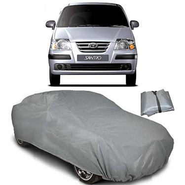 Digitru Car Body Cover for Hyundai Santro Xing - Dark Grey