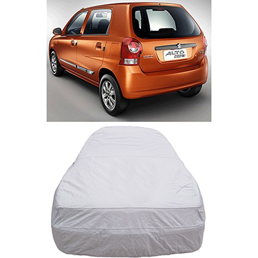Digitru Car Body Cover for Maruti Suzuki Alto K10 - Silver