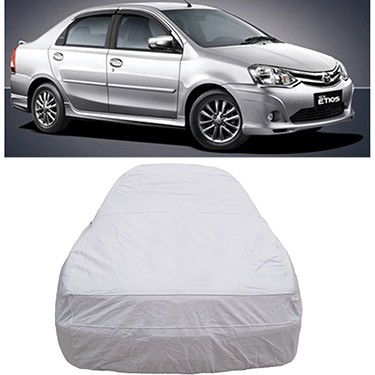 Digitru Car Body Cover for Toyota Etios - Silver
