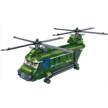 Double Rotor Helicopter Transport fighter carrier Toy