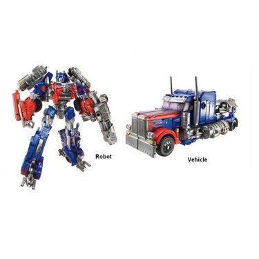 Convertible Truck Into Robot Toy - Red