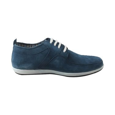 Branded Suede Leather Casual Shoes  EMPL-RMC-116  -Blue