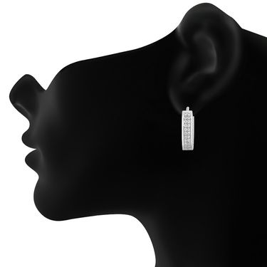 Mahi Rhodium Plated Artificial Earrings_Er1102104r