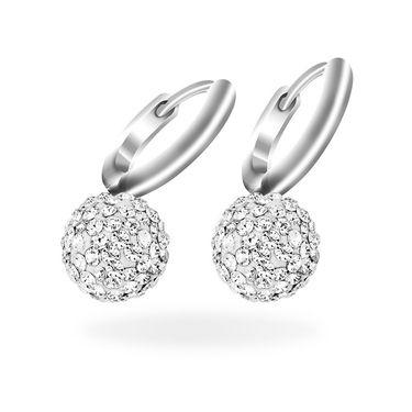 Mahi Rhodium Plated Artificial Earrings_Er1104004r