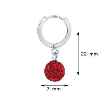 Mahi Rhodium Plated Artificial Earrings_Er1104028rre