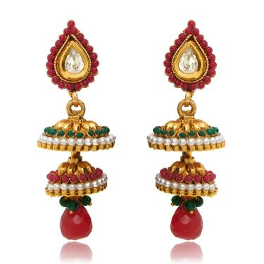 Branded Gold Plated Artificial Earrings_Er30014g