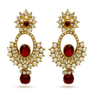 Branded Gold Plated Artificial Earrings_Er30040gred