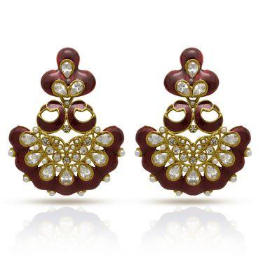 Branded Gold Plated Artificial Earrings_Er30042gred
