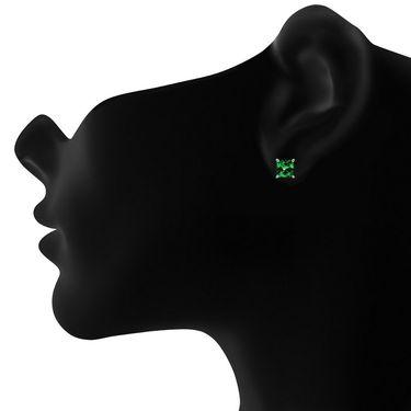 Mahi Rhodium Plated Artificial Earrings_Er3102002gre
