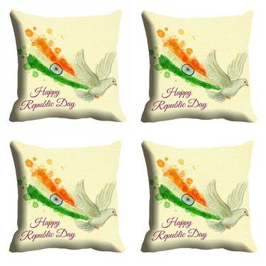 meSleep Happy Republic Day Cushion Cover (16x16) -EV-10-REP16-CD-002-04