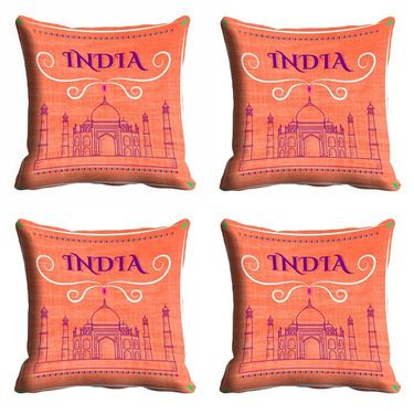 meSleep India Republic Day Cushion Cover (16x16) -EV-10-REP16-CD-004-04