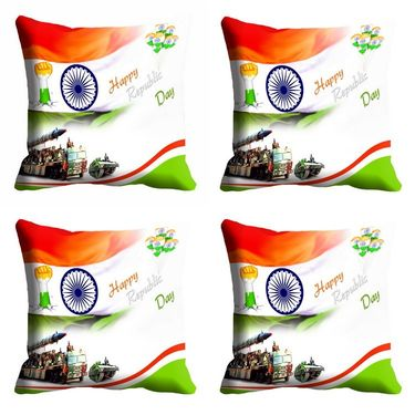 meSleep Happy Republic Day Cushion Cover (16x16) -EV-10-REP16-CD-047-04