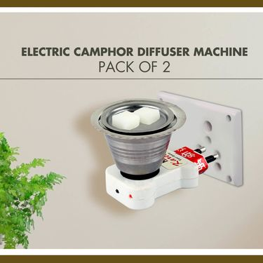 Electric Camphor Diffuser Machine - Pack of 2