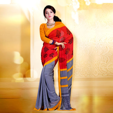 Exquisite Set of 7 Premium Georgette Sarees (7G16) with Free 7 Jewellery