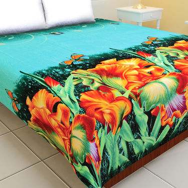 Extra Warm Soft Feel Set of 2 Double Bed 3D Blankets