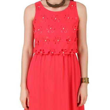 Fasense Georgette & Satin Solid Dresses  -FD002A2
