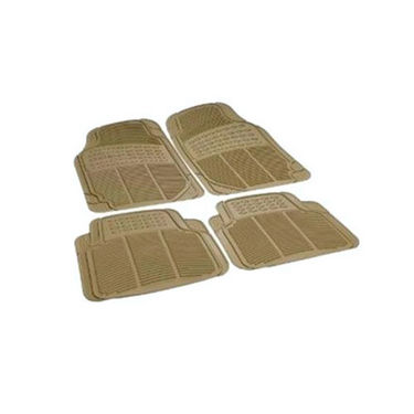 Set of 4 Car Foot Mats - Beige