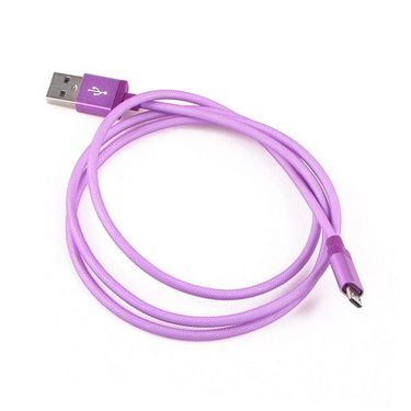 Callmate Fish Net Metal Micro-USB Cable - Purple