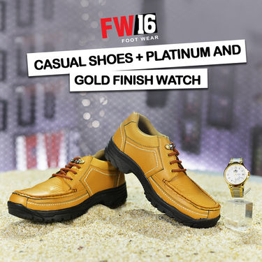 FW16 Casual Shoes + Platinum and Gold Finish Watch