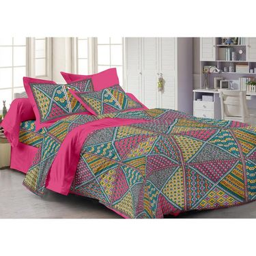 Storyathome 100% Cotton Single Bedsheet with 1 Pillow Cover-FY1132