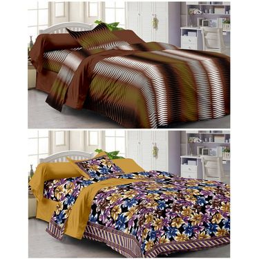 Set of 2 Single Bedsheet with 2 Pillow Cover-1205-1106