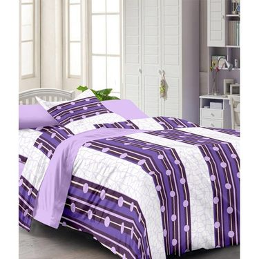 Set of 2 Single Bedsheet with 2 Pillow Cover-1214-1223