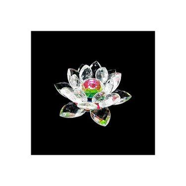 Fengshui Goddess Lakshmiji  Blessing Crystal Lotus Combo