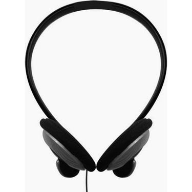 Maxell -NB-201 Stereo Line Neckband On-ear Headphones Silver - Pack of 2