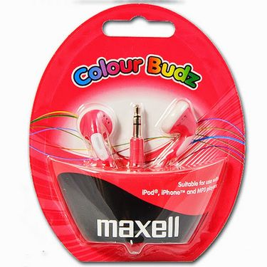 Combo of Maxell - CB-Maxell Stylish Color Budz Earphones - Purple + Red