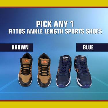 Fittos Ankle Length Sports Shoes (CS6) - Pick Any 1