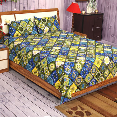 Floral 4 Double 4 Single Bedsheets Combo(4DSBS15)