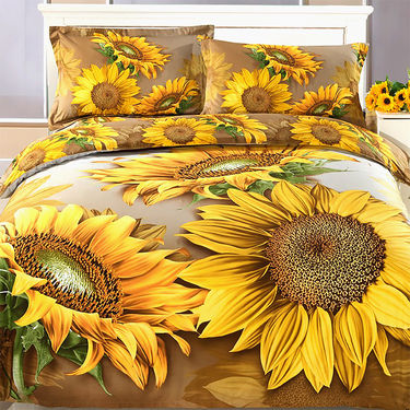 Floral Love 3D Bedsheet with 2 Pillow Covers - Pick Any 1