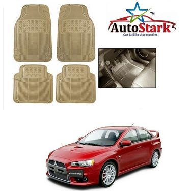 AutoStark - Premium Quality Beige Rubber Car Foot Mat For - Mitsubishi Lancer