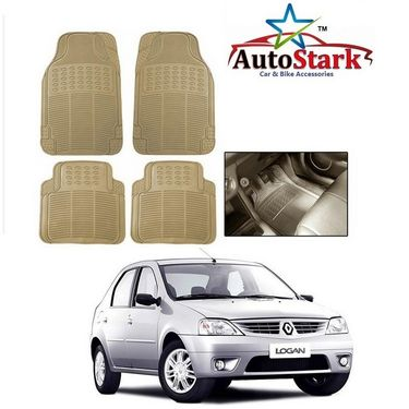AutoStark - Premium Quality Beige Rubber Car Foot Mat For - Mahindra Logan