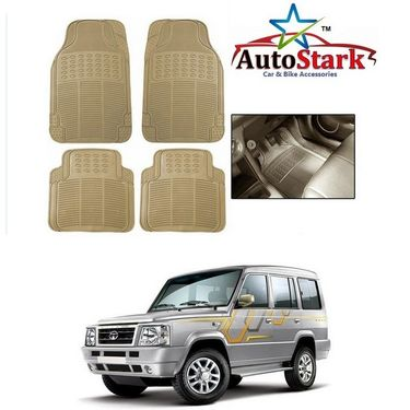 AutoStark - Premium Quality Beige Rubber Car Foot Mat For - Tata Sumo