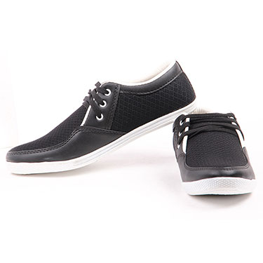 Foot n Style Faux leather Casual Shoes  FS310 - Black