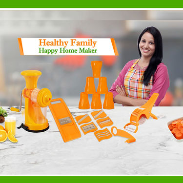 Fruit Juicer + 6 in 1 Slicer + 8 Free Gifts
