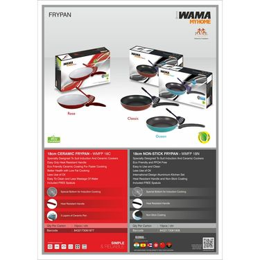 WAMA Non Stick Fry Pan 18cms with Spatula-WMFP 18N