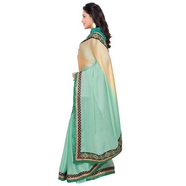 Indian Women Satin Chiffon Printed Saree -GA20123