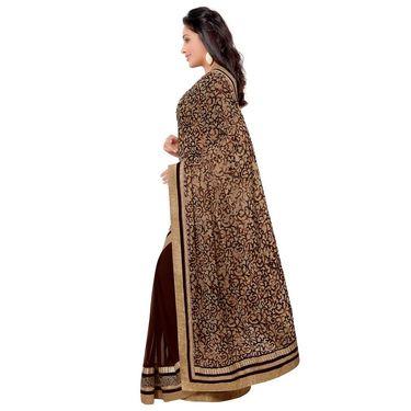 Indian Women Brasso Printed Saree -GA20132
