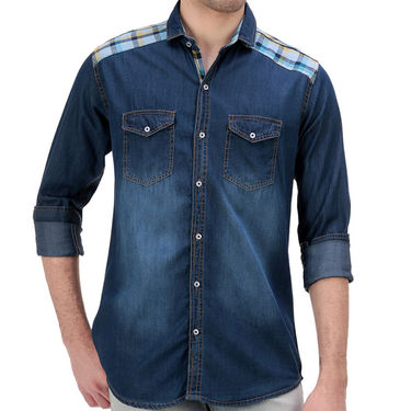 Faded Denim Shirt_Gkdenim01 - Blue